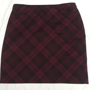 WHBM Plaid Mini Skirt size 4
